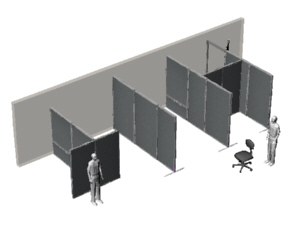 Office Partition System Showing Electrical Panels In Key Locations, For  Amped Events