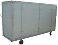 shipping cart for office partition system closed