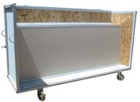 shipping cart for office partition system, open